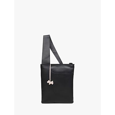 Radley Pockets Leather Medium Zip Top Cross Body Bag, Black
