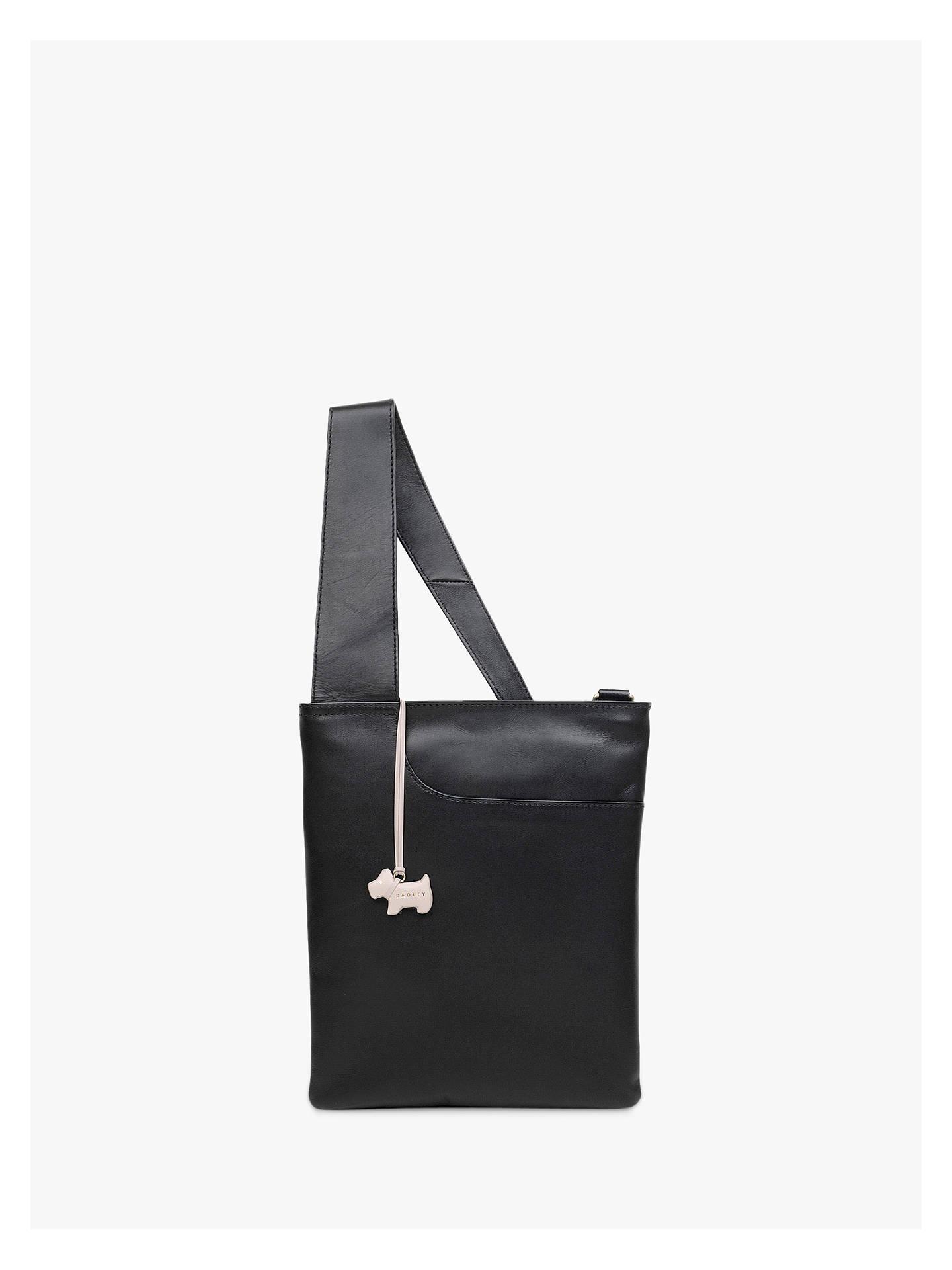 836eb9575dc6 Buy Radley Pockets Leather Medium Zip Top Cross Body Bag, Black Online at  johnlewis.