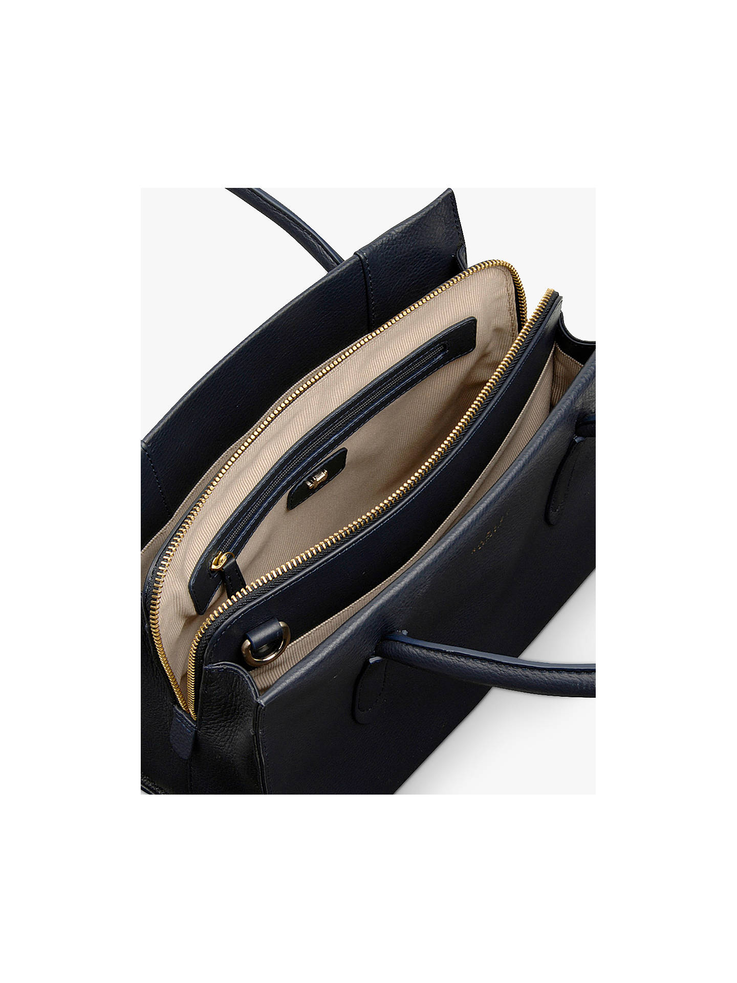 Buy Radley Arlington Court Leather Medium Grab Bag, Ink Navy Online at johnlewis.com