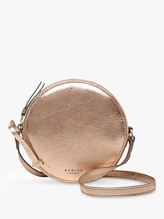 Radley Fulham Palace Leather Small Zip Around Cross Body Bag, Rose Gold