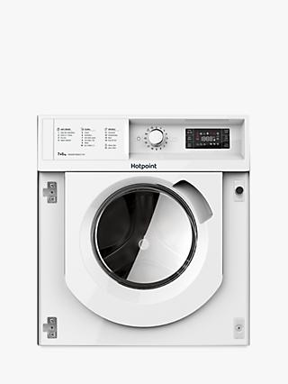 Hotpoint BIWDHG7148UK Built-In Washer Dryer, 7kg Wash/5kg Dry Load, B Energy Rating, White