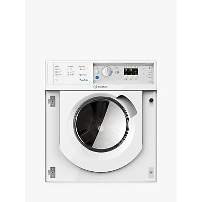 Indesit WDIL7125UK Built-In Washer Dryer, 7kg Wash/5kg Dry Load, B Energy Rating, 1200rpm Spin, White