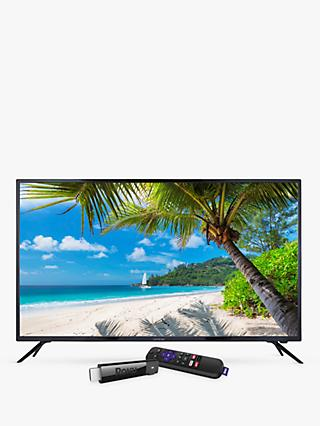 "Linsar 55UHD520 LED 4K Ultra HD TV, 55"" with Freeview HD & Roku Smart Streaming Stick, Black"