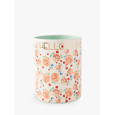 Anthropologie Delilah Floral Stoneware Utensil Jar, H17.5cm