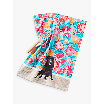 Anthropologie Jay McClellan Floral Mae Dog Tea Towel, Multi