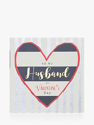 Laura Darrington Design Husband Heart Valentines Card
