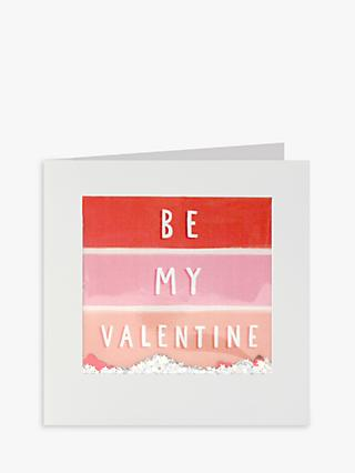 James Ellis Stevens Stripe Glitter Valentines Card