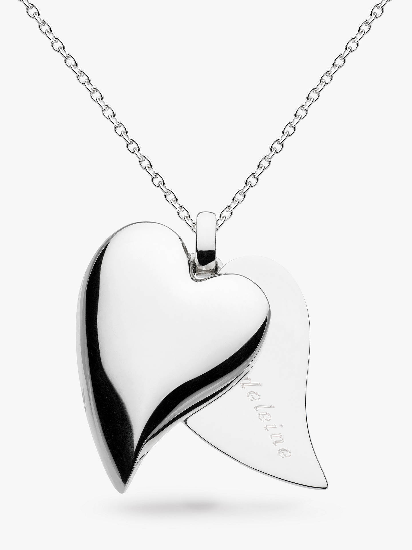 b41b746cce1613 Buy Kit Heath Personalised Desire Treasured Love Affair Large Heart Pendant  Necklace, Silver Online at