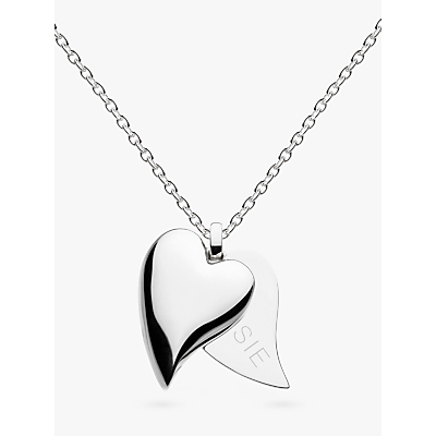 Image of Kit Heath Personalised Desire Treasured Love Affair Heart Pendant Necklace, Silver