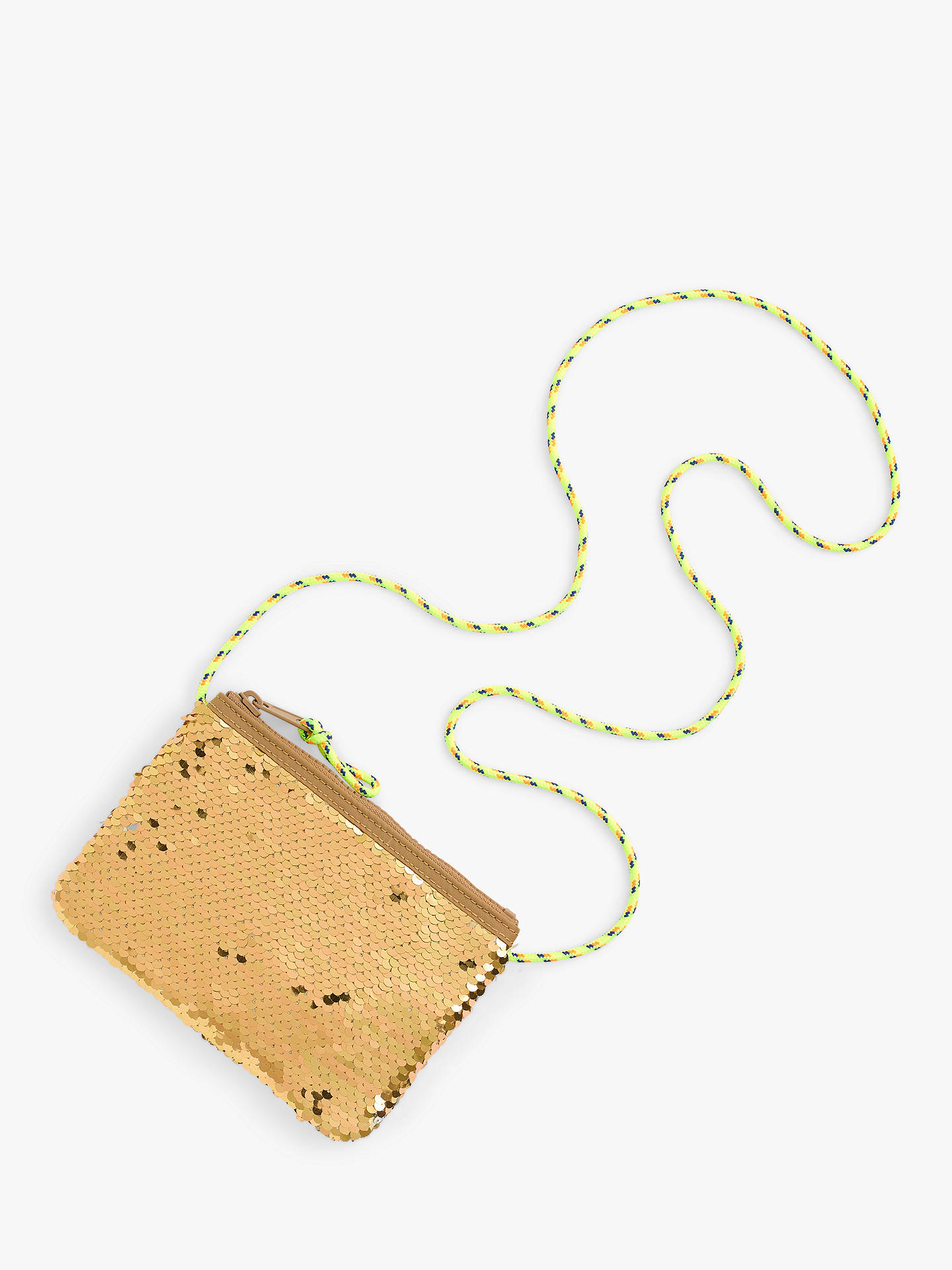 2cd9fa71e Buy crewcuts by J.Crew Girls' Reversible Sequin Bag, Gold Online at  johnlewis ...