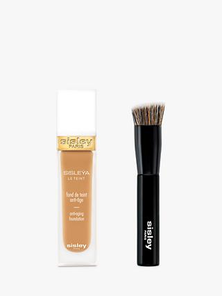Sisley Sisleÿa Le Teint Anti-Ageing Foundation, Chestnut with Foundation Brush (Bundle)
