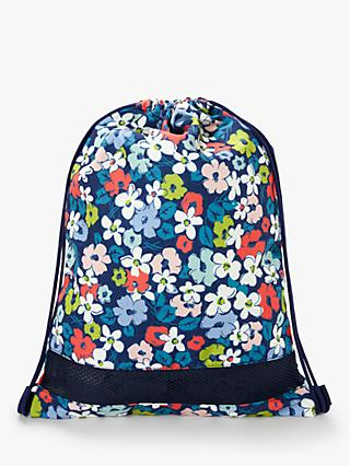 John Lewis & Partners Children's Floral Drawstring Bag