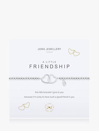 Joma Jewellery Little Friendship Interlock Heart Chain Bracelet, Silver