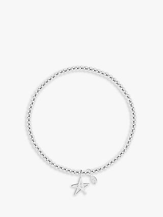 Joma Jewellery Little Fabulous Friend Star Chain Bracelet, Silver