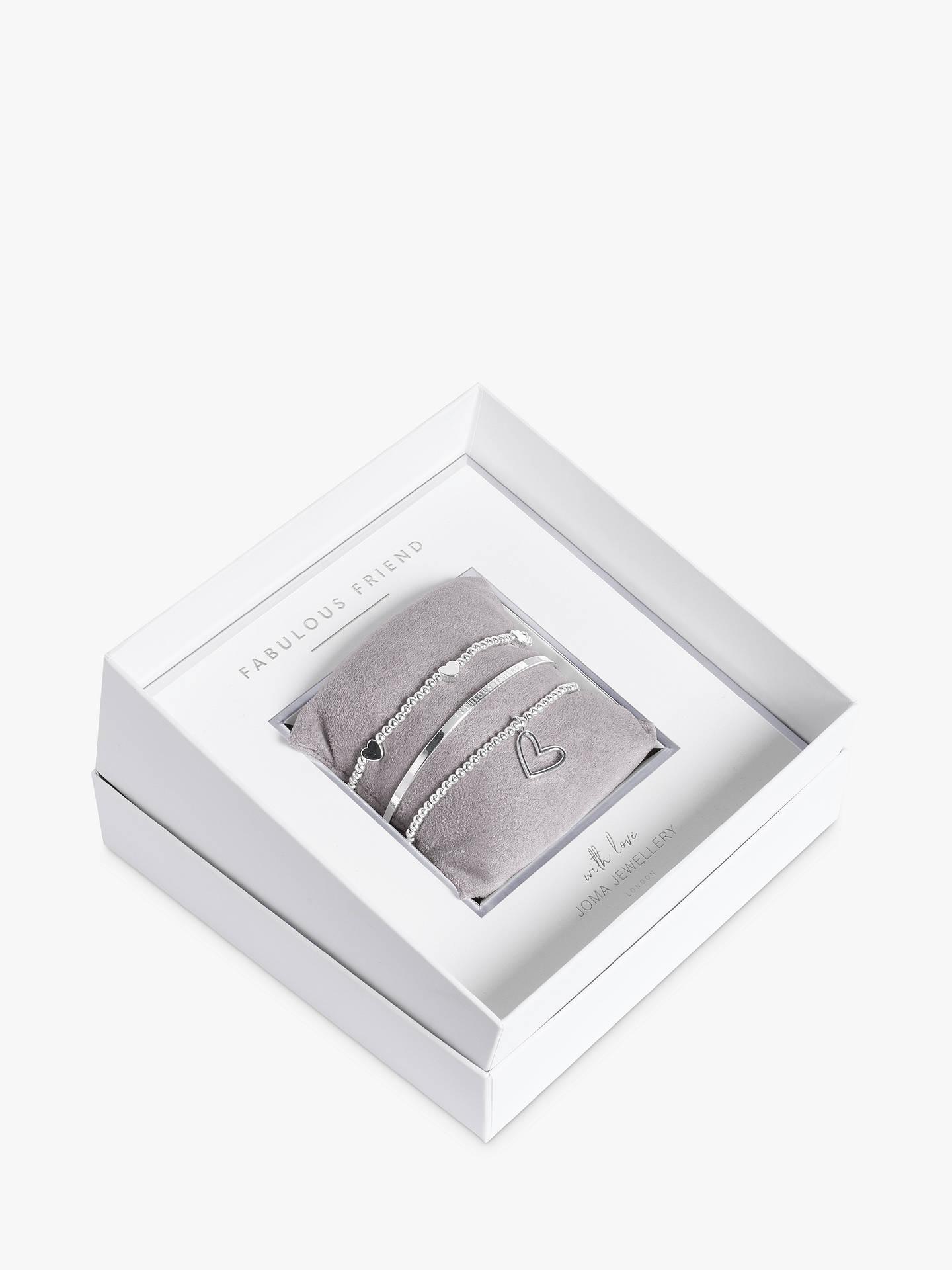 cbec3d45e4 Buy Joma Jewellery Fabulous Friend Bead and Heart Stretch Bracelets and  Bangle Gift Box Set,