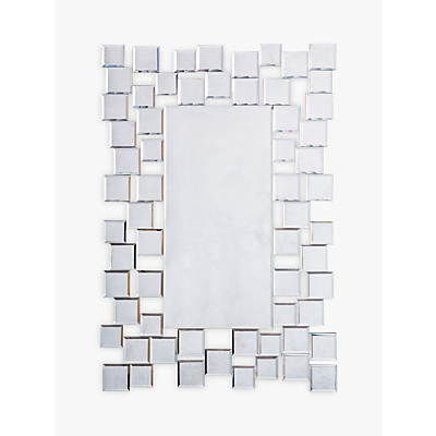 Brielle Rectangular Mirror, 89 x 60cm, Silver