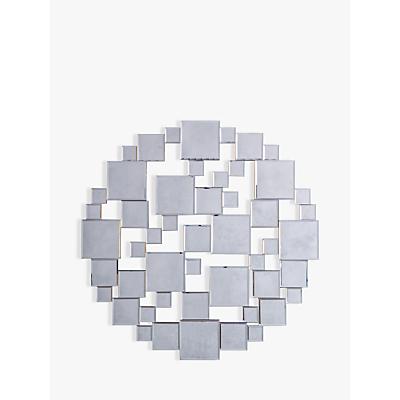 Brielle Round Mirror, Dia.80cm, Silver