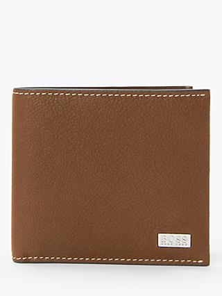 a28221565a41 BOSS Crosstown Grained Italian Leather Card Wallet