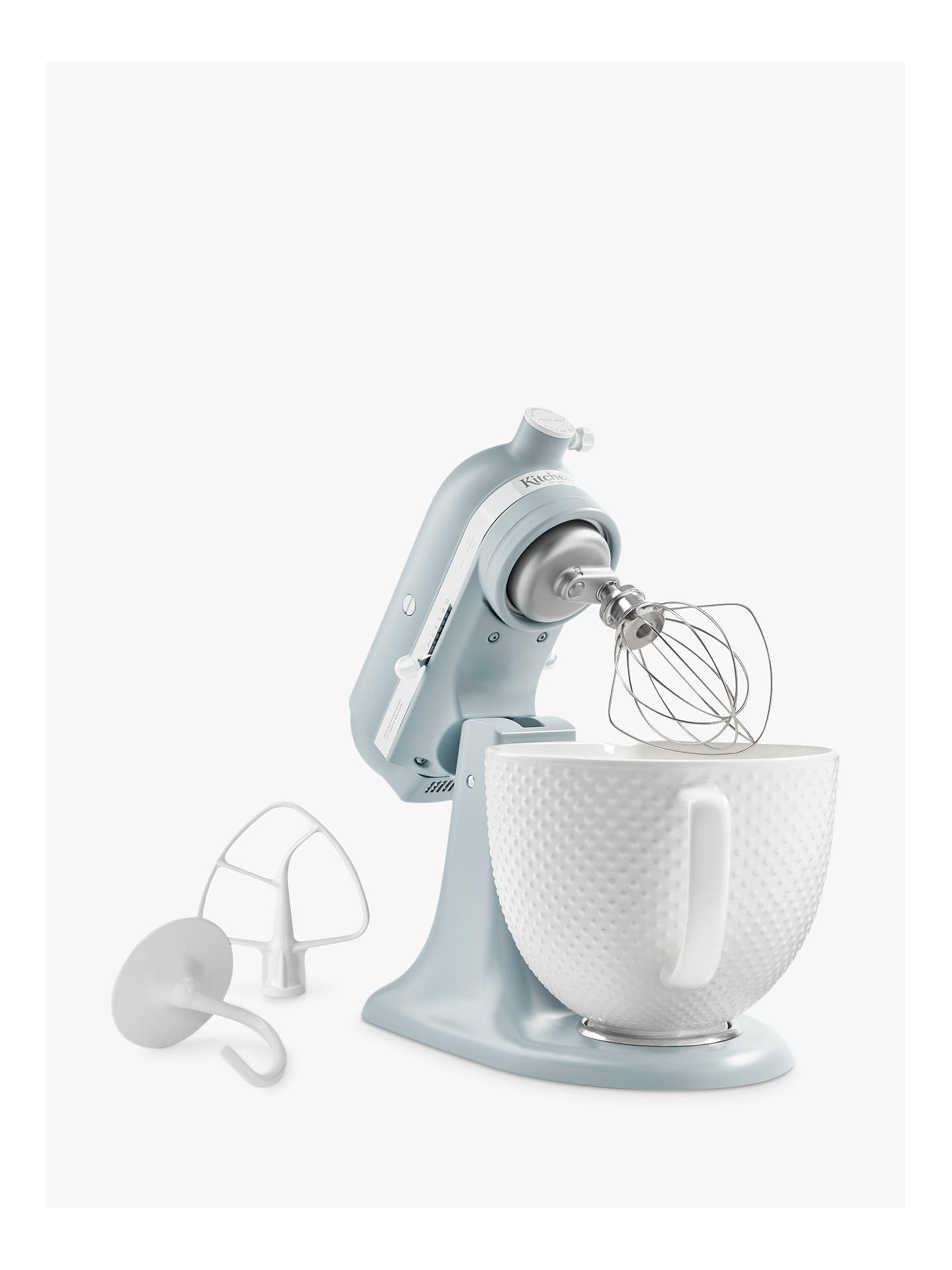 Buy KitchenAid 5KSM180RCBMB 4.8L Artisan Stand Mixer, Blue Online at johnlewis.com