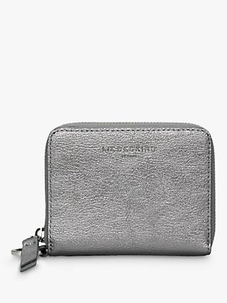 Liebeskind Berlin Boxed Conny Leather Zip Around Purse, Silver 190a081ed6