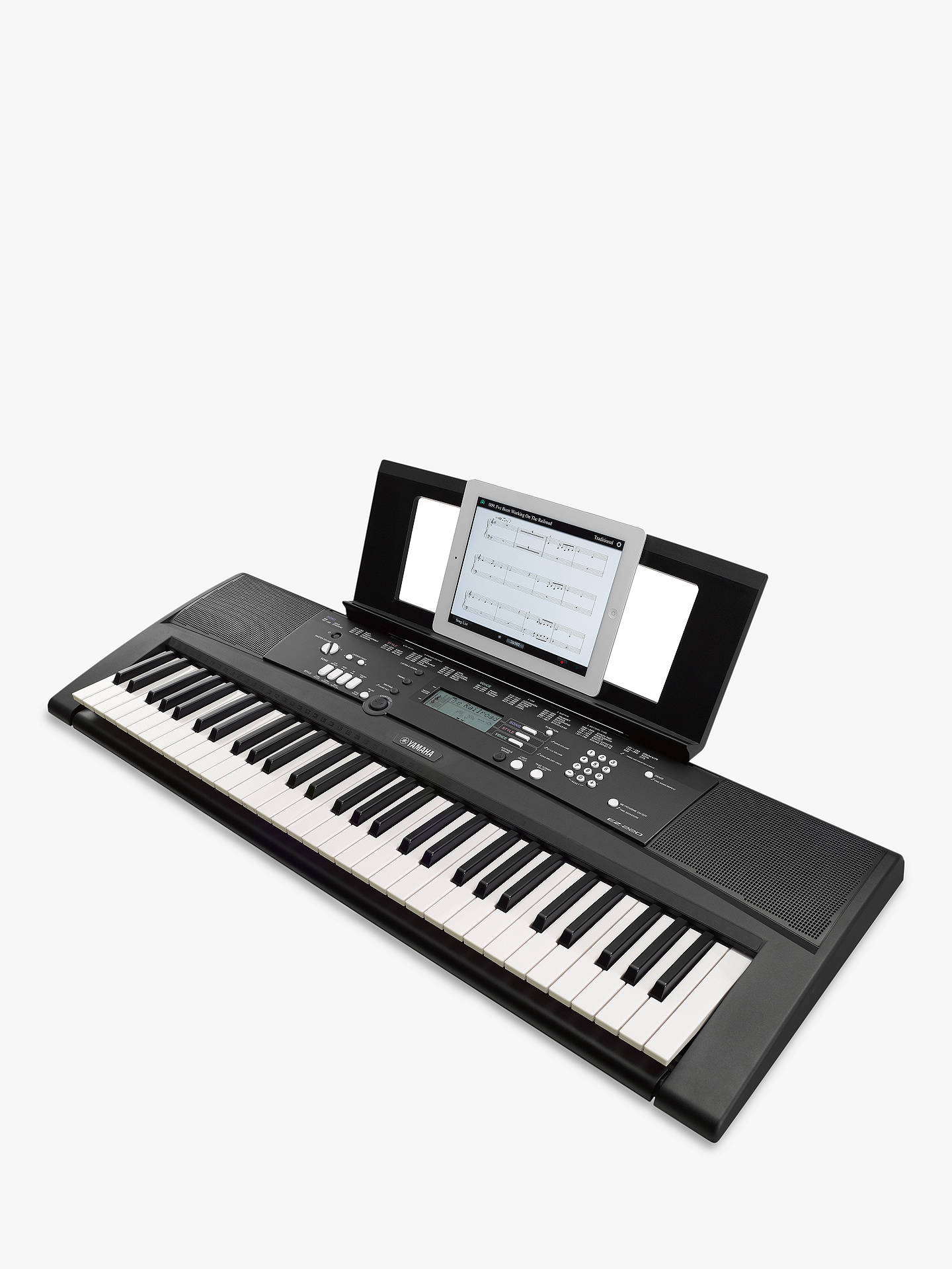 yamaha ez 220 portable electronic keyboard at john lewis. Black Bedroom Furniture Sets. Home Design Ideas