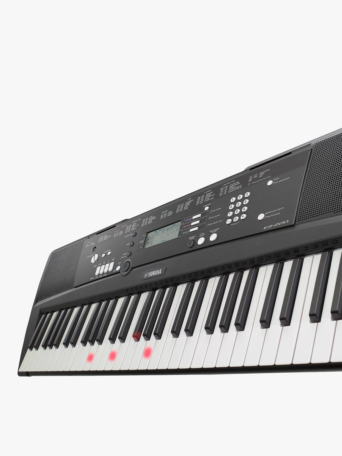 yamaha ez 220 portable electronic keyboard at john lewis partners. Black Bedroom Furniture Sets. Home Design Ideas
