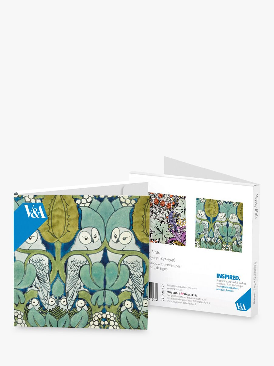 Museums & Galleries V&A Museum Voysey Birds Note Cards, Pack of 8