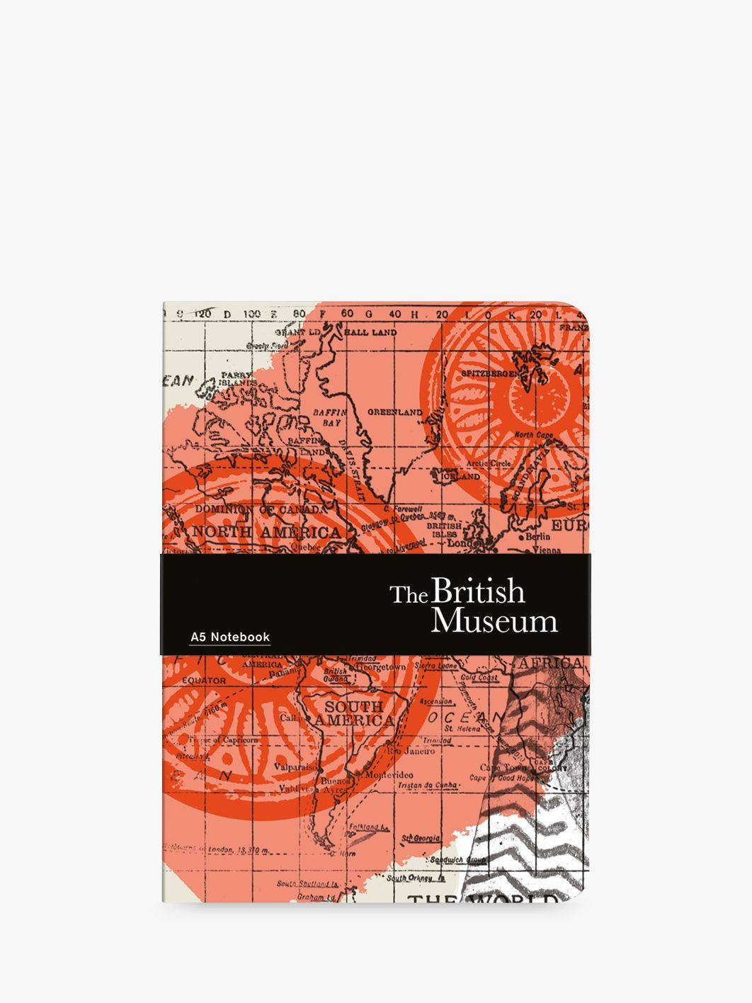 Museums & Galleries Museums & Galleries British Museum Map of the World A5 Notebook