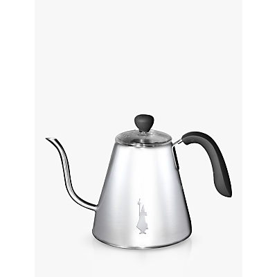 Bialetti Bollitore Acciaio Stainless Steel Stovetop Kettle, 1L, Silver