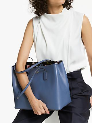 Kate Spade New York Hadley Road Dina Leather Handbag Admiral Blue Multi