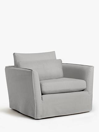 Croft Collection Cascade Armchair, Loose Cover, Marylamb Storm