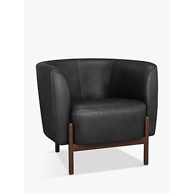 John Lewis & Partners Pod Leather Armchair, Dark Leg