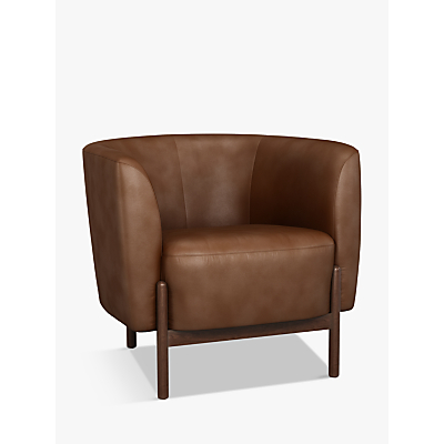 John Lewis & Partners Pod Leather Armchair, Dark Leg