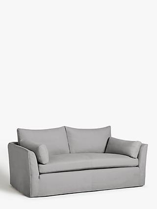 Croft Collection Cascade Grand 4 Seater Sofa, Loose Cover, Marylamb Storm