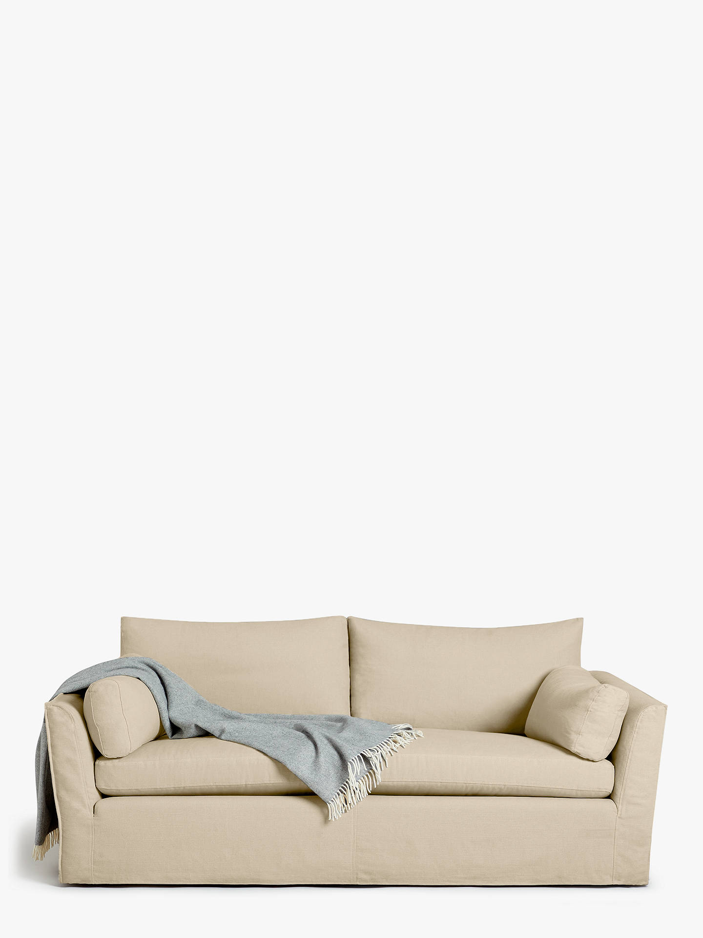 Buy Croft Collection Cascade Grand 4 Seater Sofa, Loose Cover, Maria Putty Online at johnlewis.com