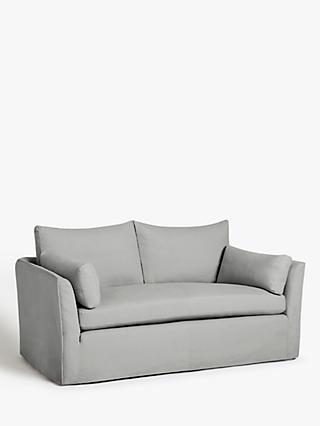 Croft Collection Cascade Medium 2 Seater Sofa, Loose Cover, Marylamb Storm
