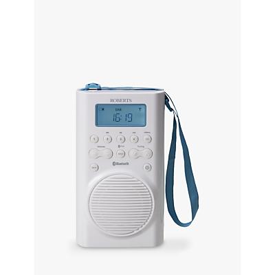 Image of ROBERTS Splash Mini DAB/DAB+/FM Bluetooth Shower Radio, White