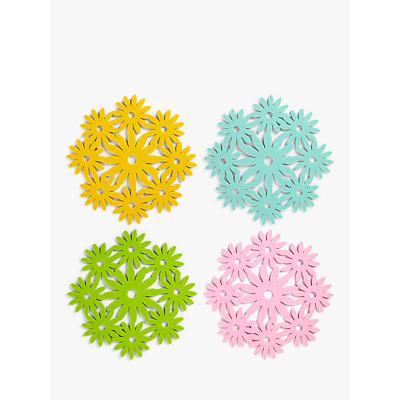 John Lewis & Partners Floral Felt Placemats, Assorted, Set of 4