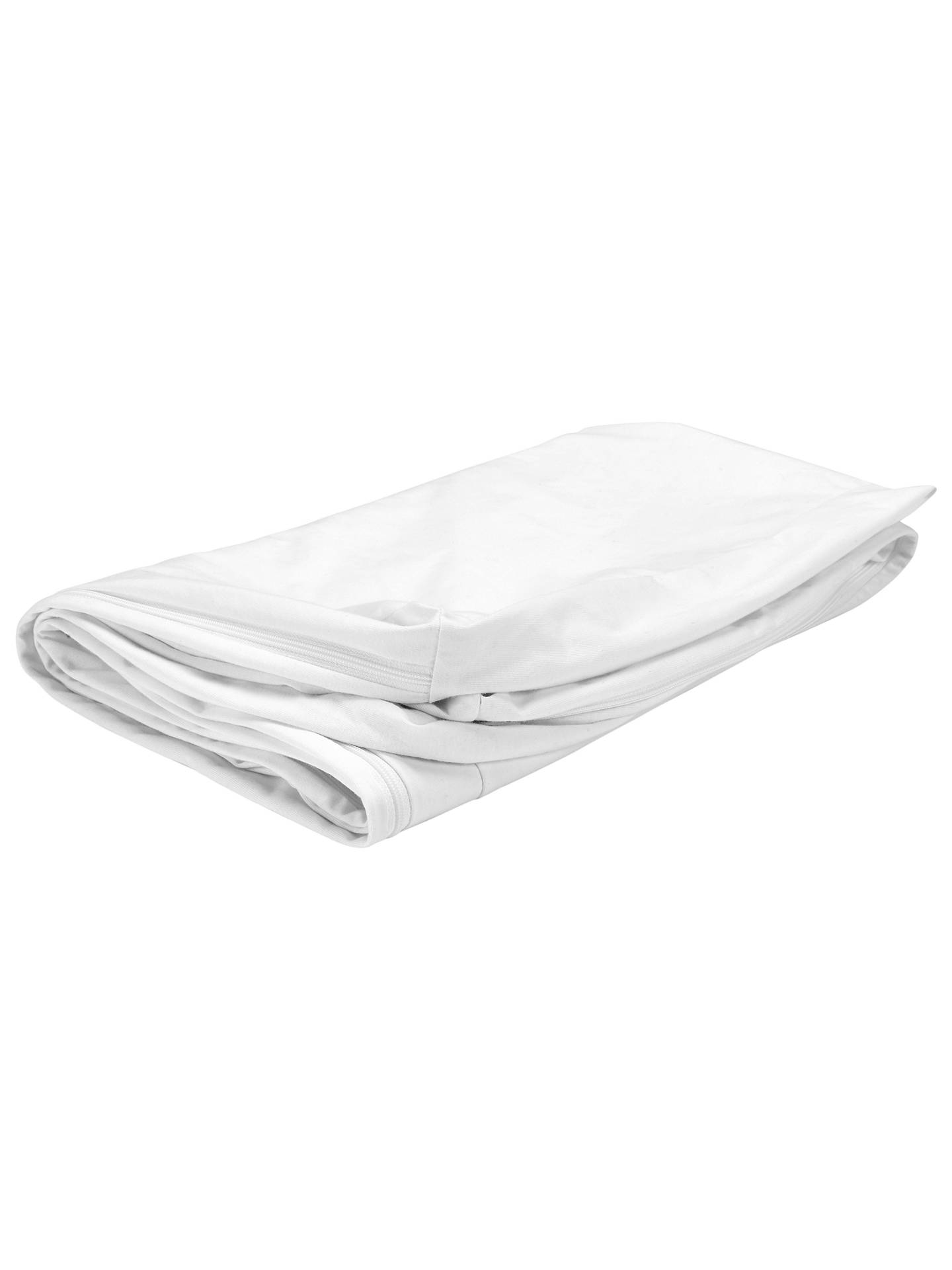 reputable site 60b26 bf5a7 John Lewis & Partners Micro-Fresh Cotton Cot Mattress Protector, White