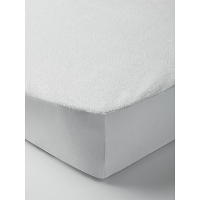 John Lewis & Partners Micro-Fresh Towelling Waterproof Cotbed Mattress Protector