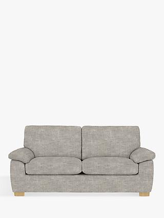 John Lewis & Partners Camden Large 3 Seater Sofa, Light Leg, Maria Steel