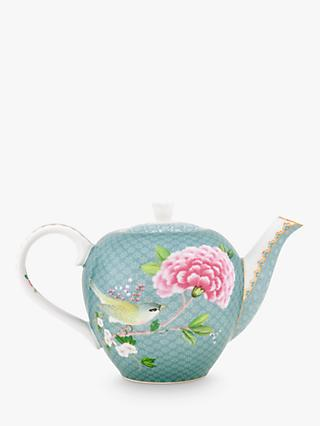 Pip Studio Blushing Birds Small Teapot, Blue/Multi, 750ml