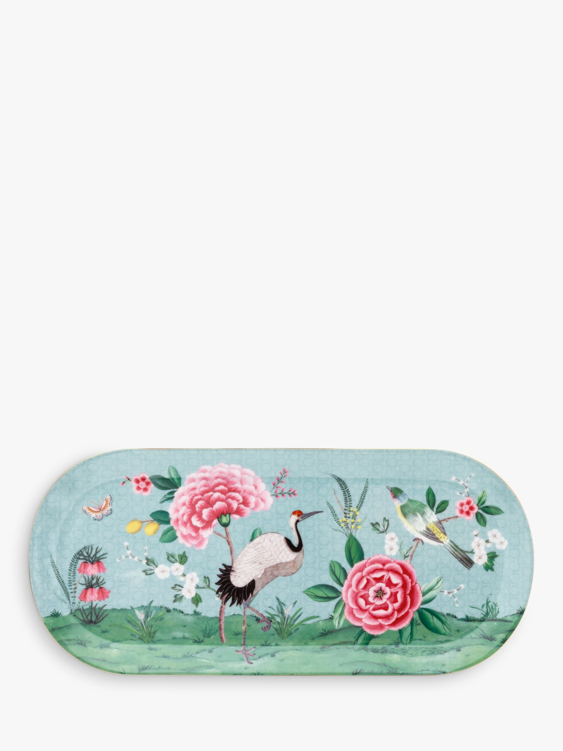 PiP Studio PiP Studio Blushing Birds Large Tray, Blue/Multi, L33cm