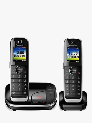 Panasonic KX-TGJ422EB Digital Cordless Telephone with Nuisance Call Blocker and Answering Machine, Twin Dect
