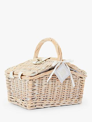 English Trousseau Layette Basket Hamper