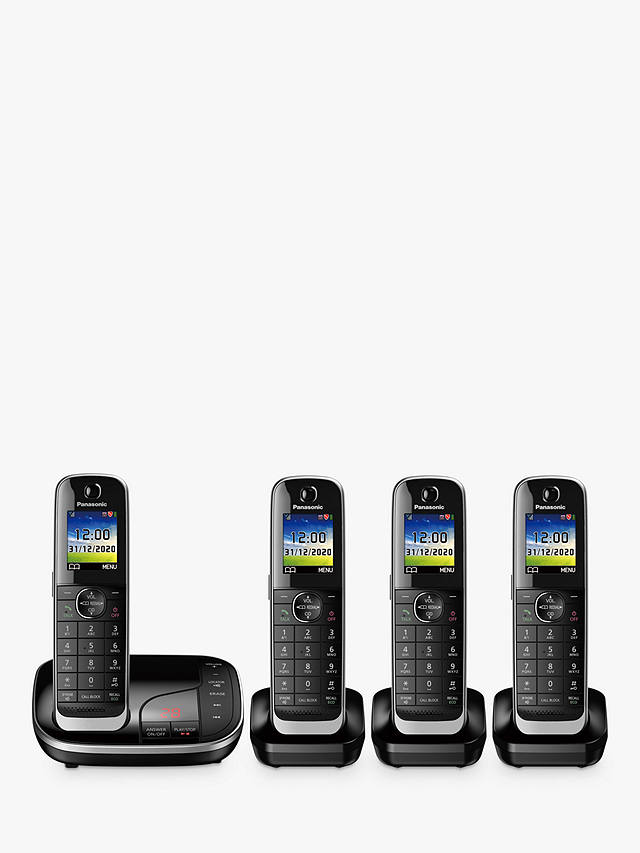 Buy Panasonic KX-TGJ424EB Digital Cordless Telephone with Nuisance Call Blocker and Answering Machine, Quad Dect Online at johnlewis.com