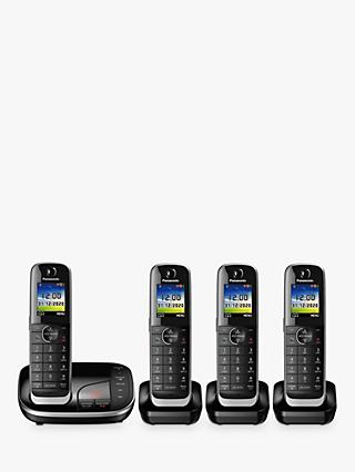 Panasonic KX-TGJ424EB Digital Cordless Telephone with Nuisance Call Blocker and Answering Machine, Quad Dect