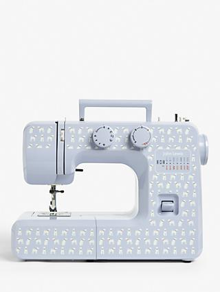 John Lewis & Partners JL111 Ralph Dog Print Sewing Machine, Blue