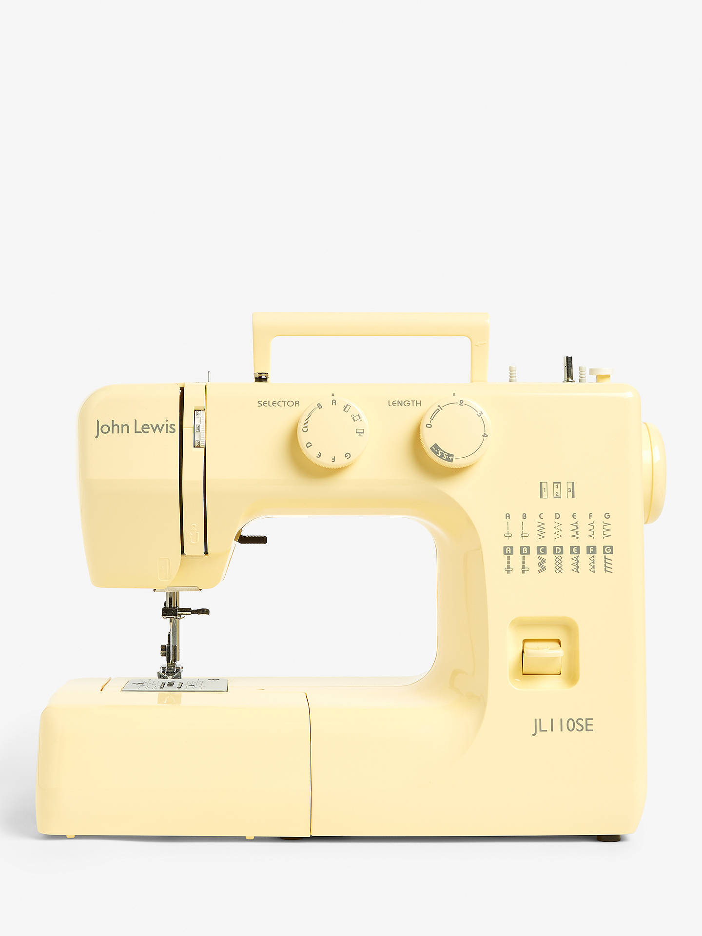 Buy John Lewis & Partners JL110 Sewing Machine, Yellow Online at johnlewis.com