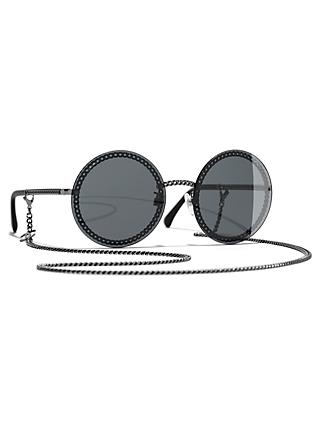 4ef205d39279 CHANEL Round Sunglasses CH4245 Gunmetal Grey